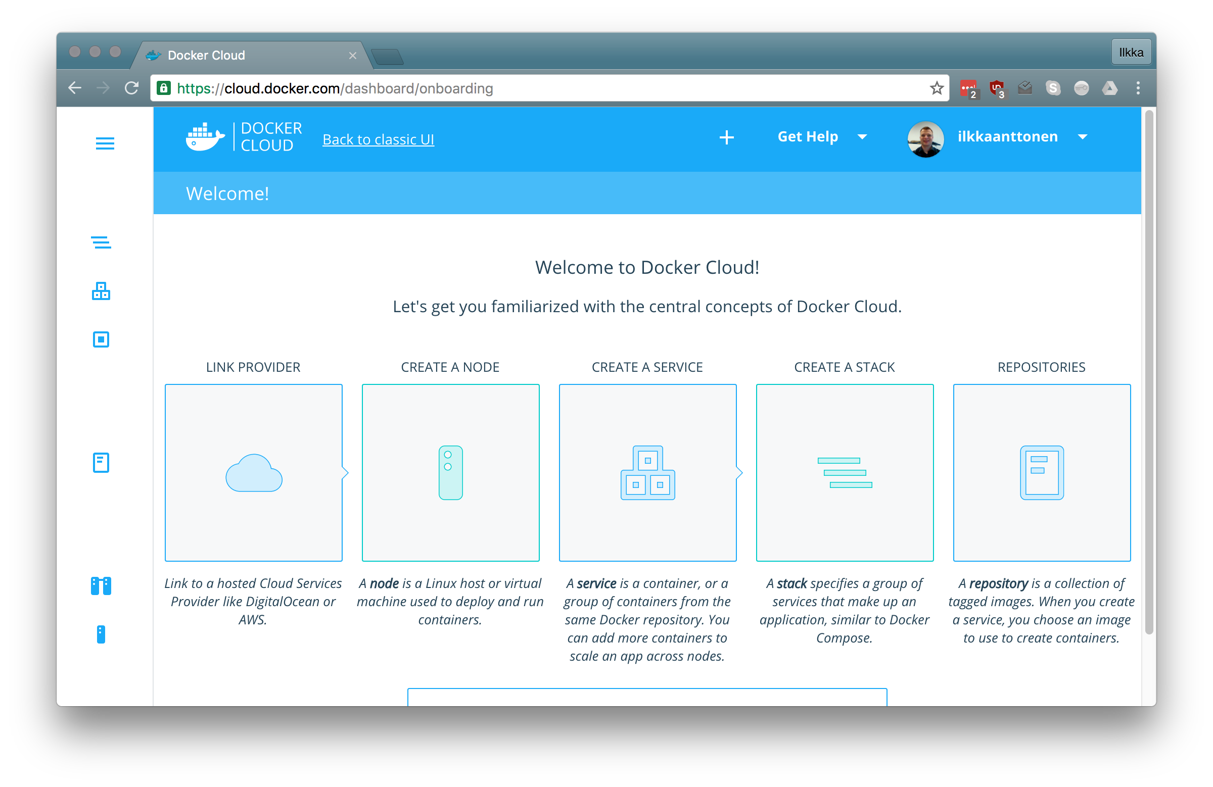 Getting started with Docker Cloud